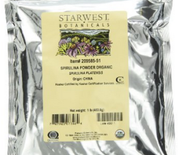 Starwest Botanicals Spirulina Powder Bag